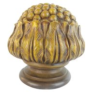 "BIG Antique Bronze Newel Post Final  ""BRONZE FLOWER"""