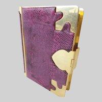 "Judith Leiber Purple Snakeskin Minaudiere ""AWESOME & RARE"""