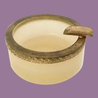 Antique French Ecru Opaline Trinket Tray  Ashtray   =WAREHOUSE CLEAN OUT=