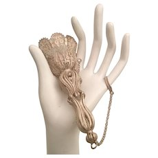 Magnificent Silver Tussie Mussie Posey Holder Porte Bouquet  ~ Original Pin and Stunning Finger Ring ~EXTREMELY RAREl