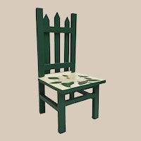 Vintage Painted Miniature Doll Chair