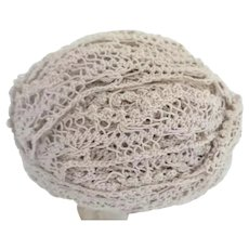 """Vintage Big Ball  ¾"""" Ecru Lace Trim  ~ This Big Ball of Lace Trim is Ready for a Very Special Project"""