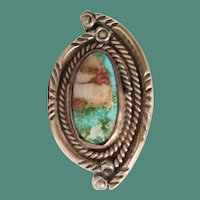 Vintage Sterling Turquoise Ring ~ BEAUTIFUL SHAPE