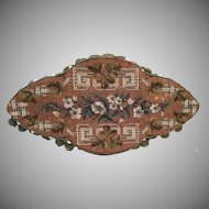 """Beautiful 19"""" Antique English Beaded Tray…AS IS!"""