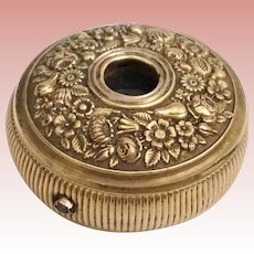 "Magnificent Antique Brass Monocular ~ ""GILT FLORA""  Three Draw Monocular~ Tuck it in a Pocket to Use or Display it in you Vitrine~ It is a Treasure"