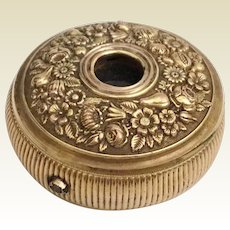 """Magnificent Antique Brass Monocular ~ """"GILT FLORA""""  Three Draw Monocular~ Tuck it in a Pocket to Use or Display it in you Vitrine~ It is a Treasure"""