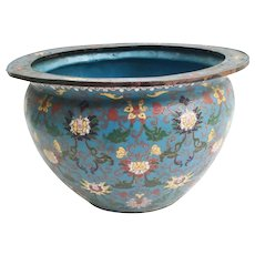 Lovely Antique Chinese Cloisonné  Jardinière ~ Wonderful Color  &  Pattern ~ It is a BEAUTY from My Treasure Vault