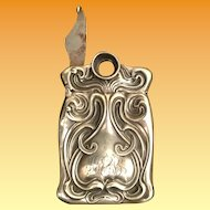 A Rare Sterling Match Safe Vesta with a Cigar Cutter Built into the Lid