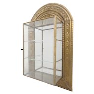Vintage Estate Brass and Glass Wall Miniature Curio Display Cabinet ~ The Perfect Place for a Wonderful Collection of Tiny Treasures