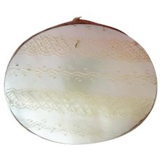 Antique Mother of Pearl Pin Cushion ~ Two Mother of Pearls with Cushion and a Few Old Pins Remain ~ A Sewing Rarity from My Treasure Vault