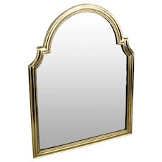"Magnificent 17 ½"" Antique Bronze Vanity Mirror ~  ""BEAUTIFUL""  ~ Great Shape....A Wonderful Arched Top Beveled Mirror"