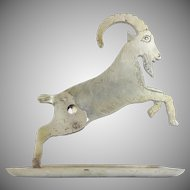 Whimsical Antique Goat Tabletop Cigar Cutter ~ A Delightful White Metal Tray Mounted with a Goat Cigar Cutter ~ A GREAT Cigar Cutter from My Treasure Vault