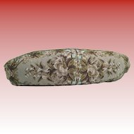 """Antique 24"""" Beaded Pillow. ~ Beautiful English Beaded Pillow ~  Nice Shape  and Stunning  Colors"""