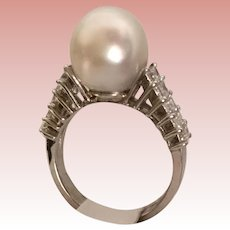Magnificent and Exquisite  18KARAT South Sea Pearl and Diamond Ring