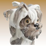 Precious Antique Porcelain Dog ~  He is a Prize ~ His Eyes are Priceless