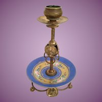 Palais Royal Porcelain Ormolu Candle Stick ~ Beautiful Hand painted Porcelain and Ormolu Stand