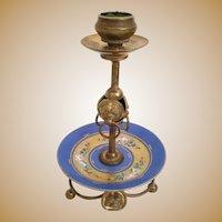 Palais Royal Porcelain Ormolu Candle Stick ~ Beautiful Hand painted Porcelain and Ormolu Stand