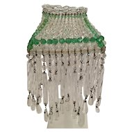 Fabulous 1920 Czech Beaded Lamp Shade