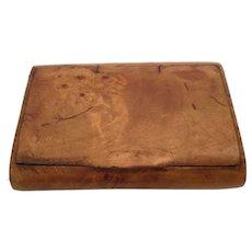 "Georgian 2 ½"" Burled Wood Snuff Box"