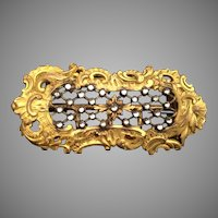 Divine Antique Gilt Brass Jeweled Dress Buckle