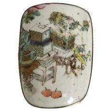 Vintage Estate Chinese Porcelain Box ~ Dome Top Porcelain Box
