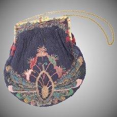 Magnificent Austrian Beaded Jeweled Enamel Purse ~ Jeweled Enamel Purse Frame is GORGEOUS !