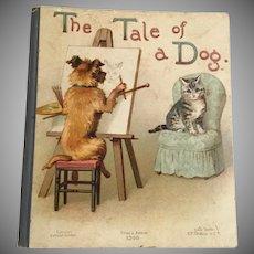 "1896 Bavarian  ""Tale of a Dog""  Little Book ~ So Very Precious"