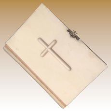 Lovely 1872 Italian Prayer Book  ~  Cover  with a Cross ~ Ornate Gilt Snap Closure