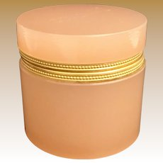 Antique Pink Opaline Box  ~  Stunning Beaded Gilt Mounts ~ A Luscious Peachy Pink Opaline Box from My Treasure Vault