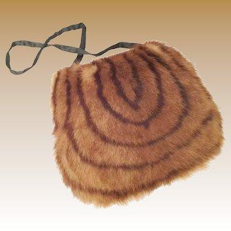 Vintage Estate Fur Muff Purse ~ A CHARMING  Fur Treasure
