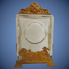 19C French Bronze and  Crystal Clock Case ~ This Beautiful Thing was a Clock Case ~  It is a Very Special One!