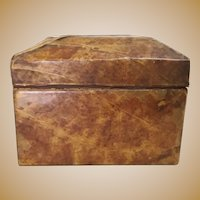 Antique Dome Top Tobacco Leaf Hinge Wood Box ~ Just a Rare and Wonderful Box