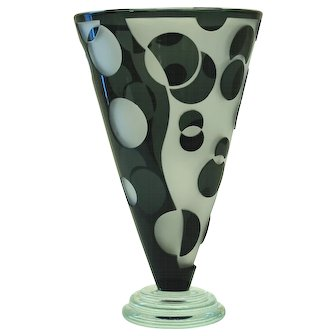 Correia Limited Edition Etched Glass Vase