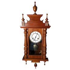Gorgeous Walnut Victorian Wall Clock