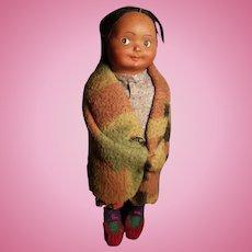 Vintage Cute Native American Made Skookum Doll