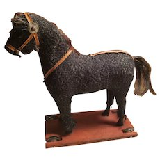 Old Horse Toy on Wheels Great Doll Companion