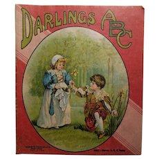 Darlings ABC Children's Doll Cloth Linen Book