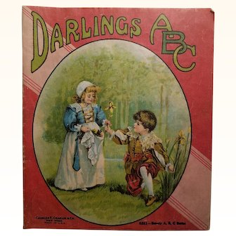 Darlings ABC Children's Doll Cloth Linen Book
