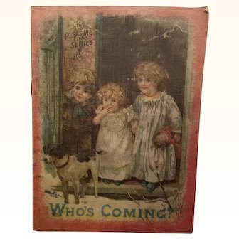 Old Cloth Linen Children's Doll Book Who's Coming