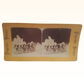 Interesting Old Stereoview Stereo Card Scarce Doll Vignette