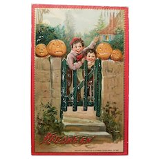 Tuck's Antique Halloween Post Card Cute!!