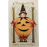 Cute Antique Halloween Post Card Whitney Made 1910s
