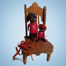 Cute Little Pair of Black Celluolid Dolls