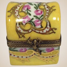 Cheerful Limoges Box with Perfume Bottle by La Gloriette