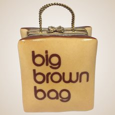 Limoges Trinket Box-RETIRED-Bloomingdales Big Brown Bag