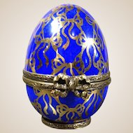 Limoges Porcelain Egg Trinket Box-LIMITED EDITION