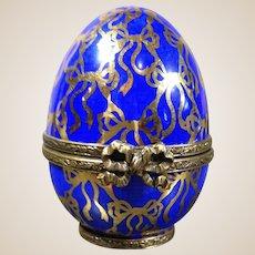 Limoges Porcelain Egg Trinket Box-LIMITED EDITION