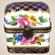 Limoges Porcelain Trinket Perfume Box
