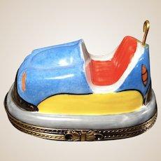 RETIRED Limoges Porcelain Trinket Box-Large Bumper Car