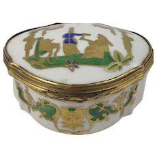 Antique Porcelain Hand Painted Trinket Box